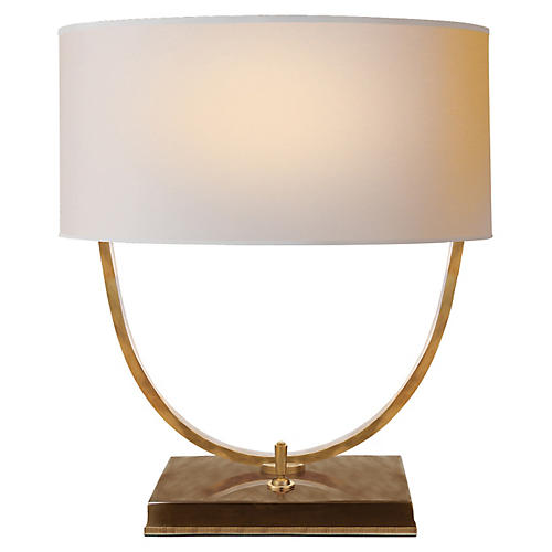 Kenton Desk Lamp, Antiqued Brass