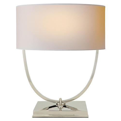 Kenton Desk Lamp, Polished Nickel