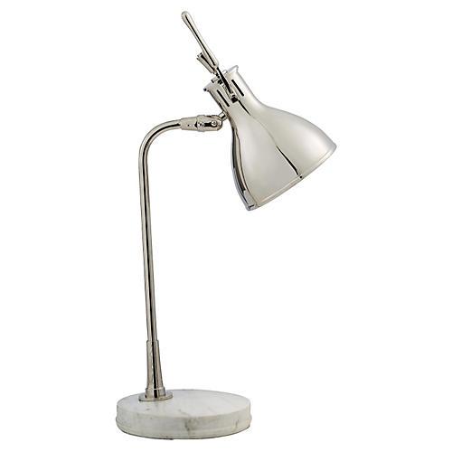 Enrico Table Lamp, Polished Nickel