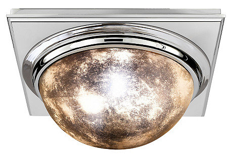 Venice Square Flush Mount, Nickel