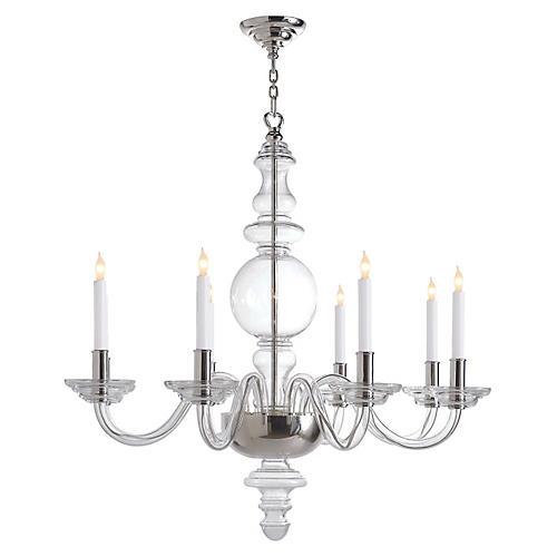 King george grande chandelier nickel