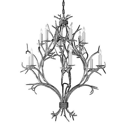 Branch Open Chandelier, Old White