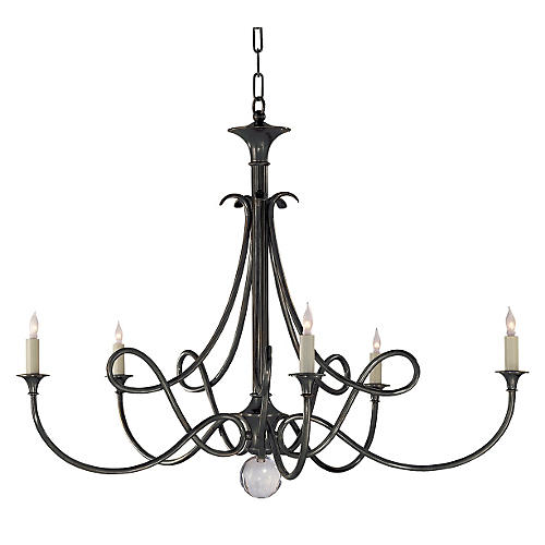 Double Twist Chandelier, Bronze