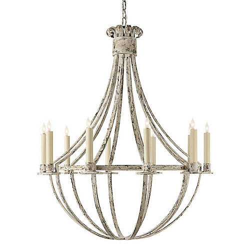 Seymore Chandelier, Belgian White