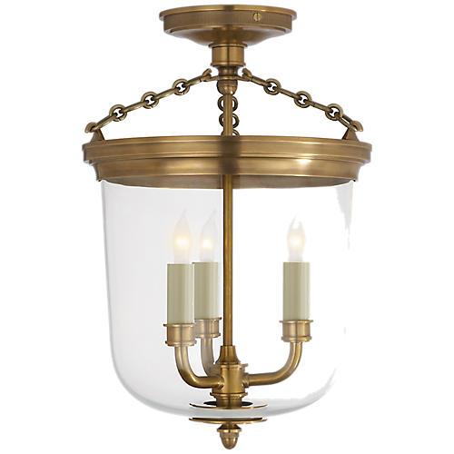 Merchant Semi-Flush Mount, Brass