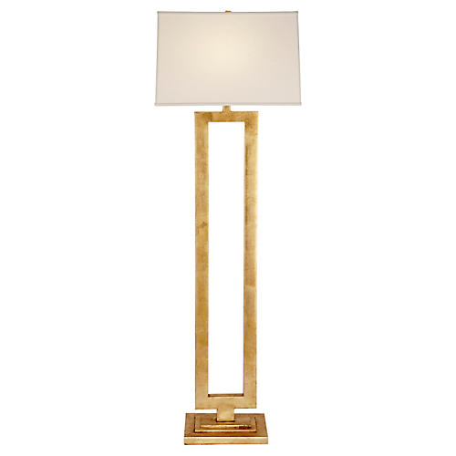 Modern Open Floor Lamp, Gild