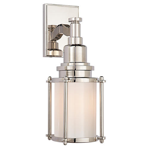 Stanway Sconce, Polished Nickel