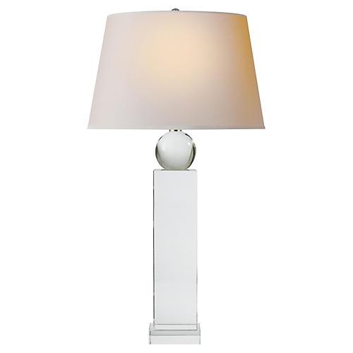 Geometric Tall Table Lamp, Crystal