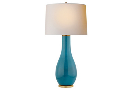 Orson Balustrade Table Lamp, Oslo Blue
