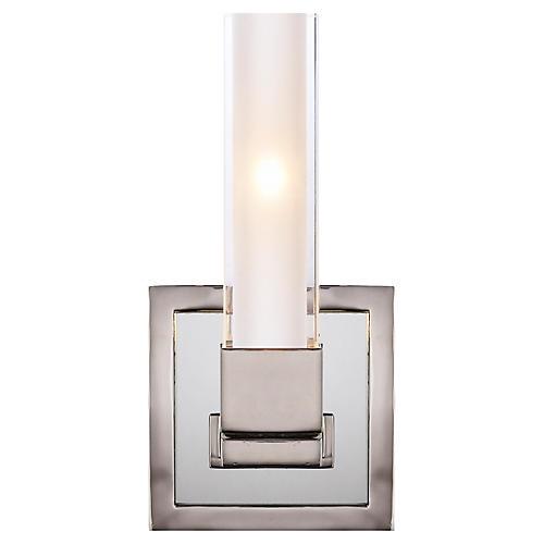 Kendal Single-Light Sconce, Polished Nickel