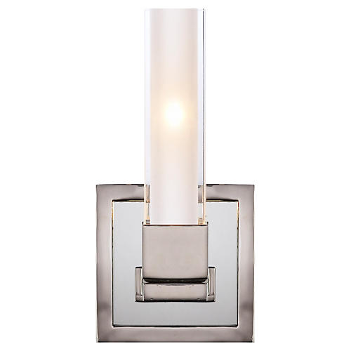 Kendal Single-Light Sconce, Polished Nickel