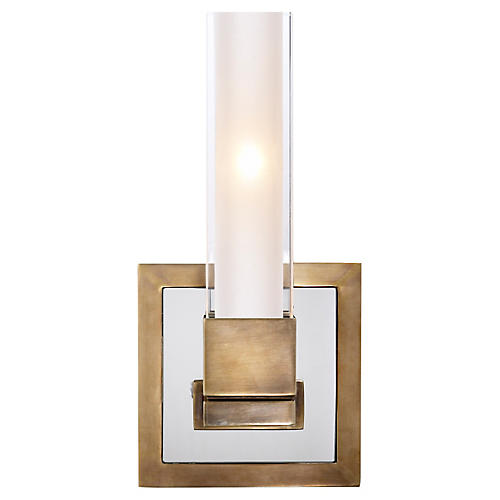 Kendal Single-Light Sconce, Antiqued Brass