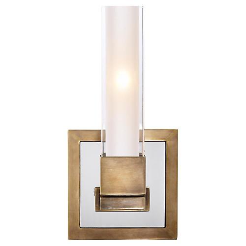 Kendal Single-Light Sconce, Antiqued Brass