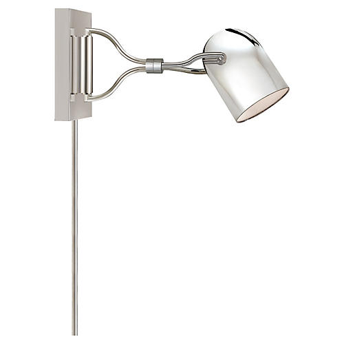 Noho Double Torchiere Sconce, Nickel