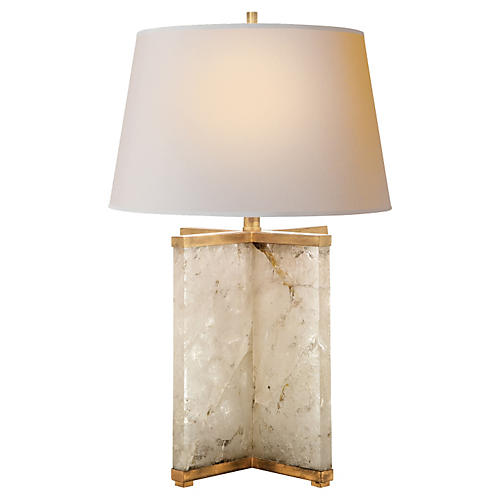 Cameron Table Lamp, Gilded Iron