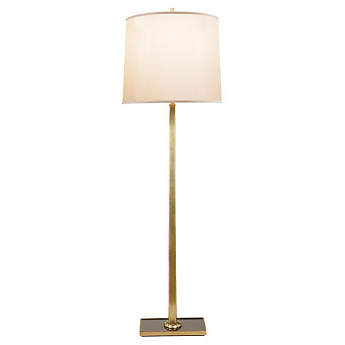 Petal Floor Lamp, Soft Brass