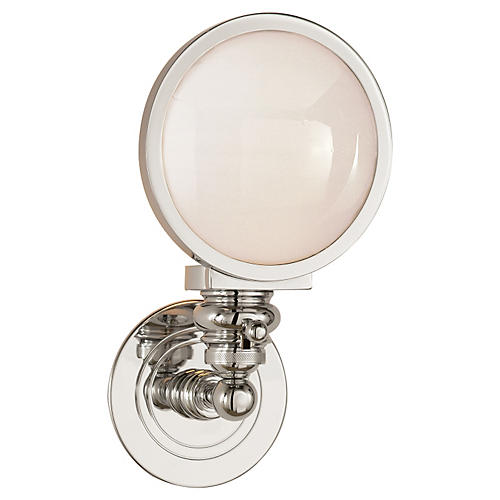 Boston Headlight Sconce, Nickel