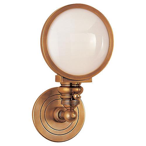 Boston Headlight Sconce, Brass