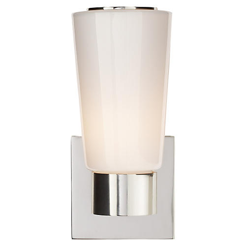 Tapered Sconce, Soft Silver