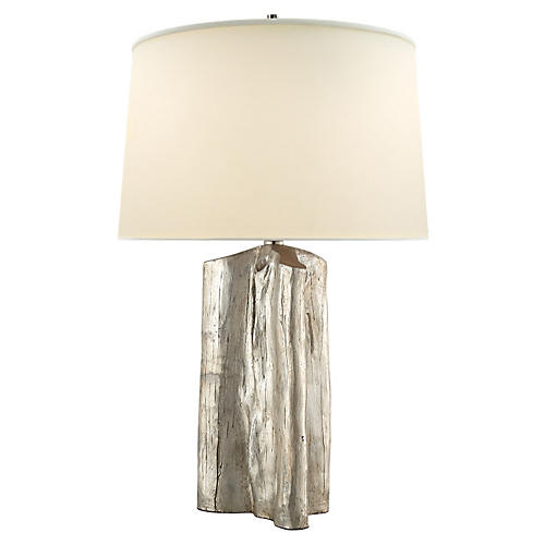 Sierra Buffet Lamp, Silver Leaf