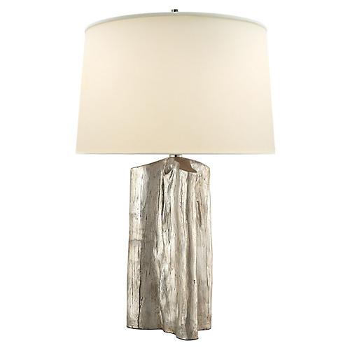 Sierra Buffet Lamp, Silver Leaf