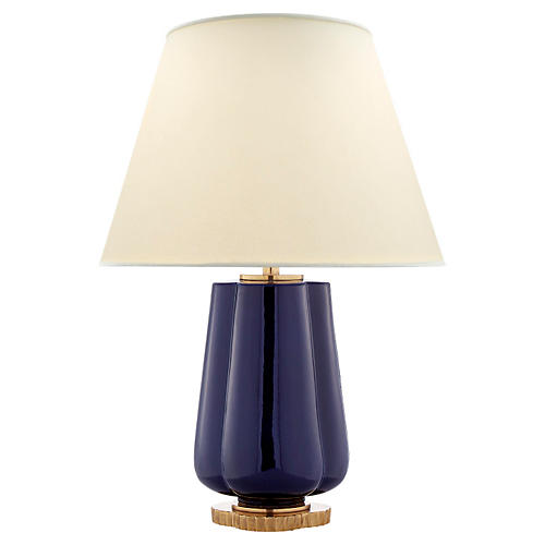 Eloise Two-Bulb Table Lamp, Denim