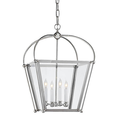 Plantation 4-Bulb Small Lantern, Nickel