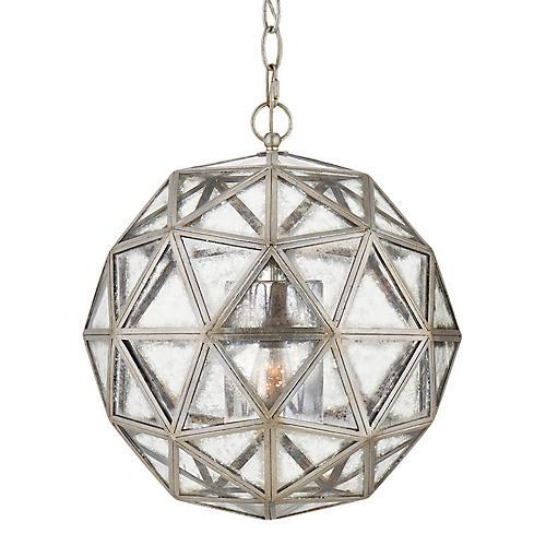 Zeno 80 Facet Hedron Lantern, Silver