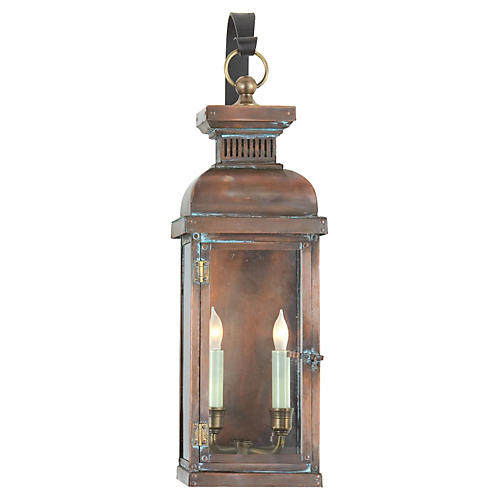 Suffork Outdoor Wall Lantern, Copper