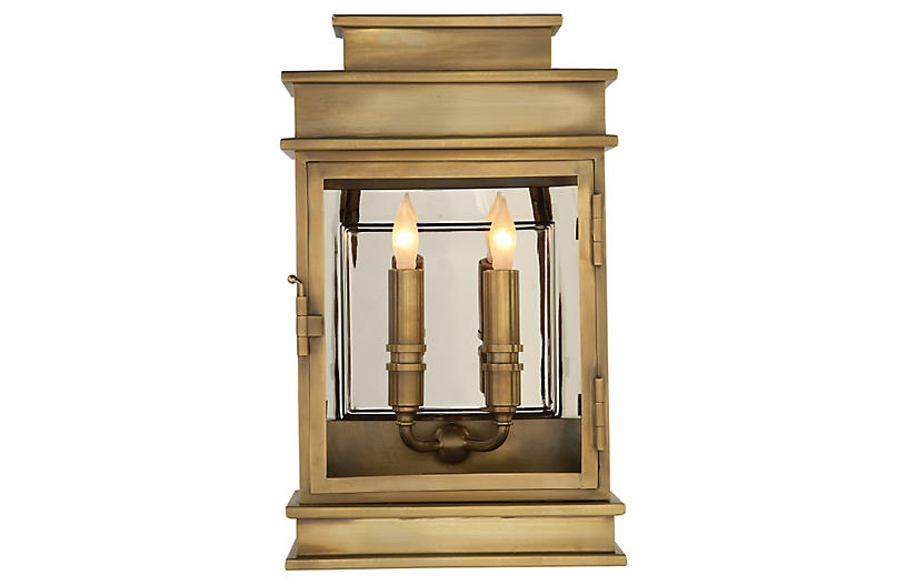 Two-Bulb Outdoor Linear Wall Lantern, I