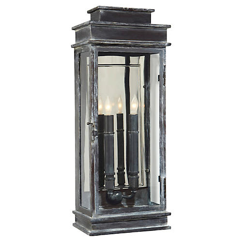 Two-Bulb Tall Outdoor Wall Lantern