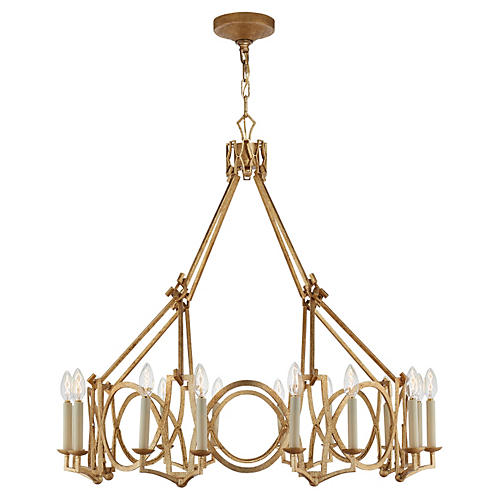 Brittany 6-Bulb Chandelier, Gold