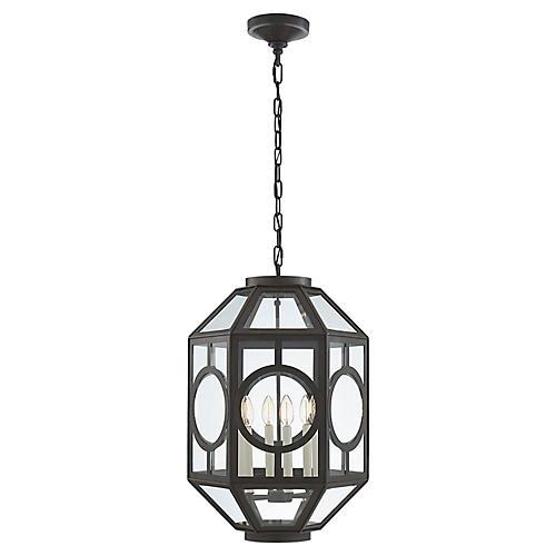 Chatsworth Six-Bulb Lantern, Aged Iron