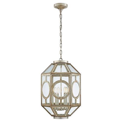 Chatsworth Six-Bulb Lantern, Silver Leaf