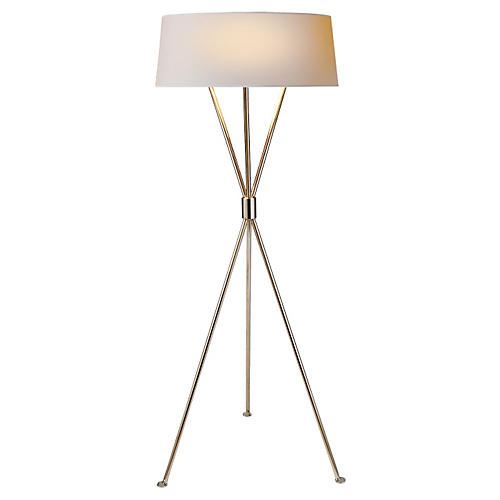 Thornton 3-Bulb Floor Lamp, Nickel