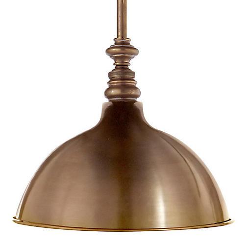 Boston Pendant, Antiqued Brass