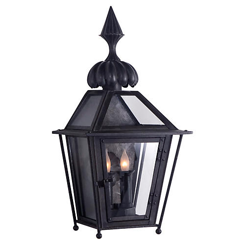 Audley Outdoor Wall Sconce, Black