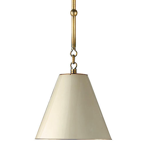 Goodman Hanging Shade, Brass/Natural