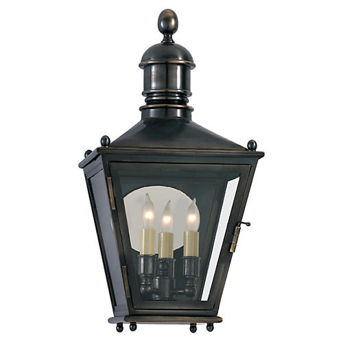 Sussex Outdoor Wall Lantern, Bronze