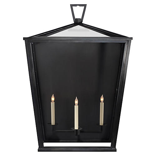 Darlana Outdoor Wall Lantern, Bronze