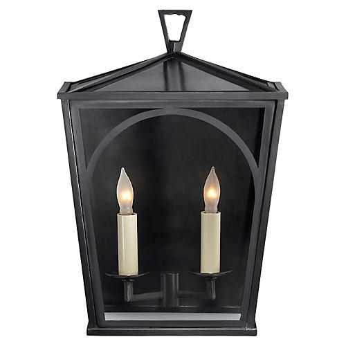Darlana Outdoor Arc Sconce, Bronze