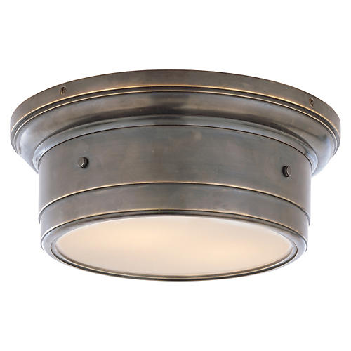 Siena Flush Mount, Bronze