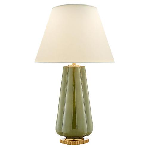 Penelope Table Lamp, Green