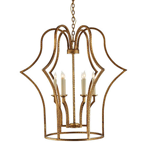 Hollywood Regency Chandelier, Iron