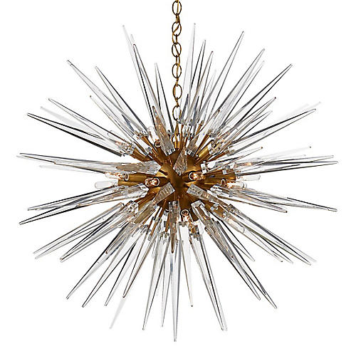 Quincy Medium Sputnik Pendant, Brass