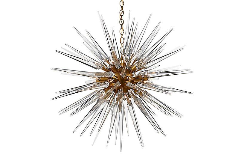 Quincy Medium Sputnik Pendant, Brass