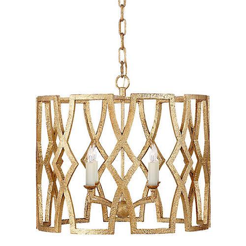 Brittany Small Lantern, Venetian Gold