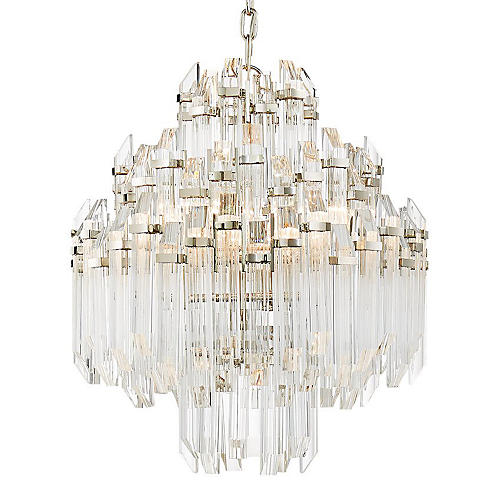 Adele Waterfall Chandelier, Nickel