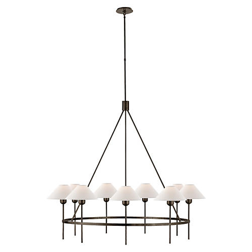 Hackney Large Chandelier, Bronze