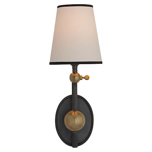 Alton Pivoting Sconce, Hand-Rubbed Brass